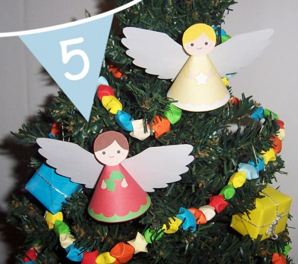 paper Christmas angel printable