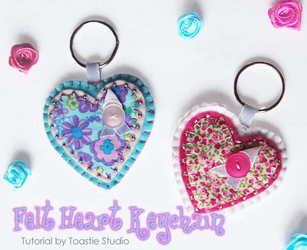 Felt Heart Keyring Tutorial