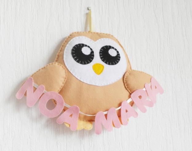 owl hanger felt