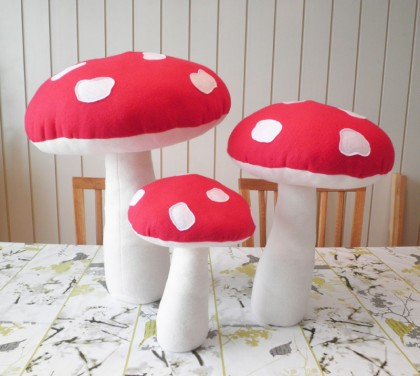 large mushrooms