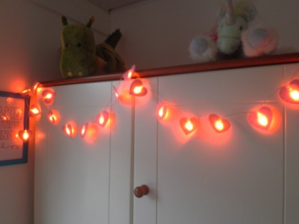 fairy light garlands - heart